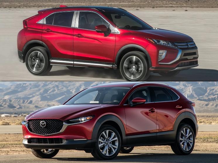 comparaison entre le Mitsubishi Eclipse Cross 2020 et le Mazda CX-30 2020 couleur rouge