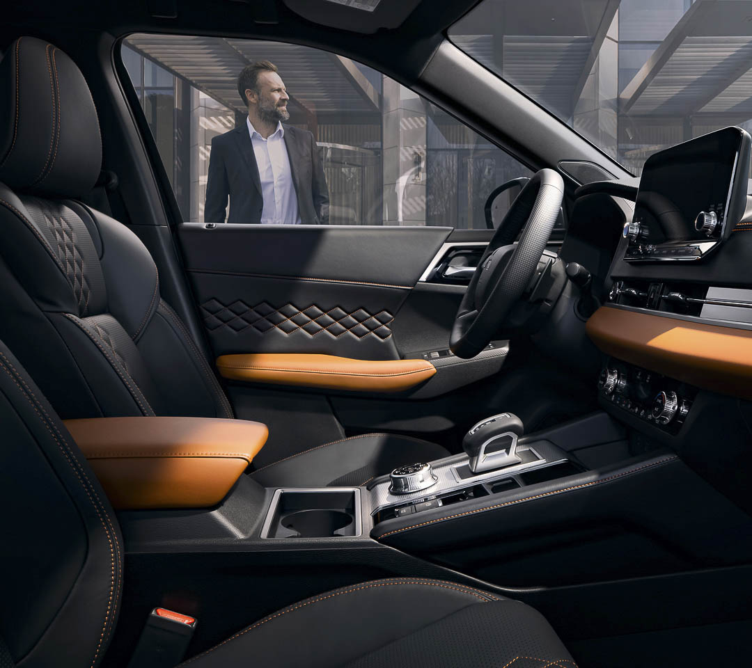 vue intérieure du Mitsubishi Outlander 2022
